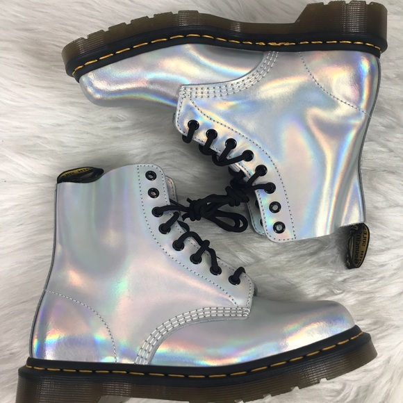 Dr Martens Womens Pascal RS Silver Ankle Boot